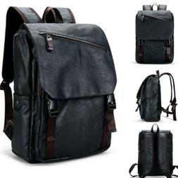 Vintage Backpack Mens Waterproof Laptop Travel School Satche