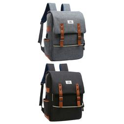 Vintage Business Laptop Backpack School Bags Rucksack with U