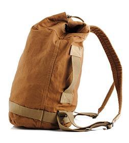 DRF Canvas Duffel Backpack Vintage Rucksack Hiking Outdoor B