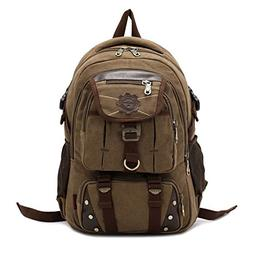 DRF Vintage Canvas Backpack Tactical Military Style 15.6 Lap