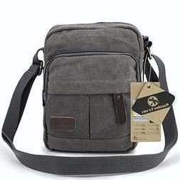 Koolertron Vintage Canvas Crossbody Shoulder Bag Lightweight