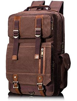 b8ac38470f Leaper Vintage Canvas Laptop Backpack Tr..