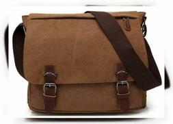 Kenox Vintage Canvas Laptop Messenger Bag Crossbody School B