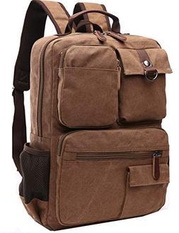 Canvas Backpack, Aidonger Vintage Canvas School Backpack Hik
