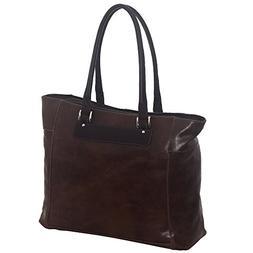 Piel Leather Vintage Executive Tote, Vintage Brown, One Size