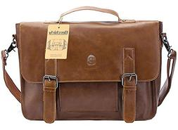vintage faux leather briefcases laptop