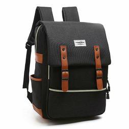 Vintage Laptop Backpack, Canvas College Backpack School Bag