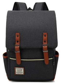 Kenox Vintage Laptop Backpack College School Bag Fits 15-inc