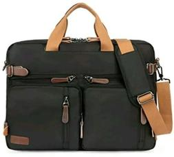 Kenox Vintage Laptop Backpack Messenger Briefcase Unisex Bla