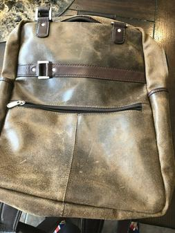 Piel Leather Vintage Laptop Carry-All Convertible Backpack,V
