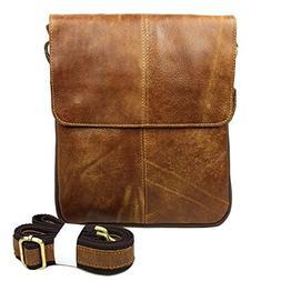 Vintage Nubuck Leather Cross-body Satchel Messenger Bag Smal