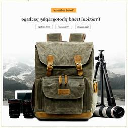 Vintage Photography Backpack Photography Canvas  Side Camera