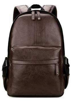 Kenox Vintage PU Leather Backpack School College Bookbag Lap
