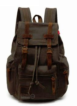 Vintage Retro Canvas Backpack Travel Sport Laptop Satchel Hi