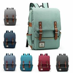 Vintage Style Laptop Backpack Canvas College Backpack School