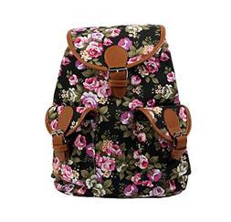Vintage Women Canvas Travel Satchel Shoulder Bag Backpack Ru