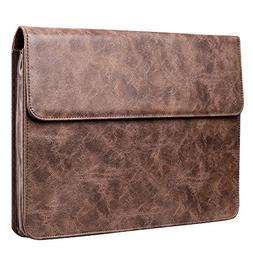 Plemo 13 Inches Water Resistant Laptop Sleeve PU Leather Cas