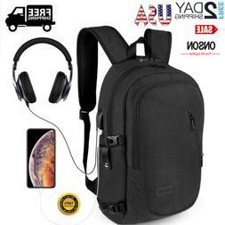 """Waterproof 17"""" Laptop Backpack Heavy-duty Bookbag School Tra"""