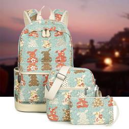 Waterproof Backpack Set School Bags Kids Laptop Bookbags Sho