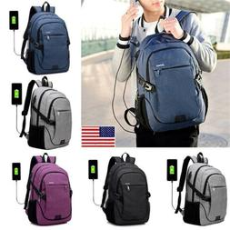 Waterproof Backpack With USB Charging Port School Laptop Moc
