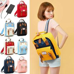 Waterproof Backpack Women School Bags for Girl USB Charge Tr