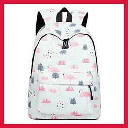 Teecho Waterproof Cute Backpack for Girl Casual Print School