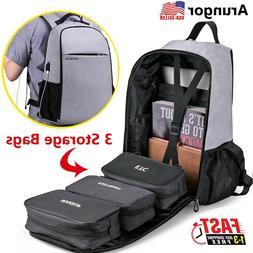 Waterproof Men Laptop Backpack Business School Bag Travel Ru