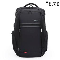 Waterproof Men Notebook 17.3 inch Laptop Backpack USB Charge