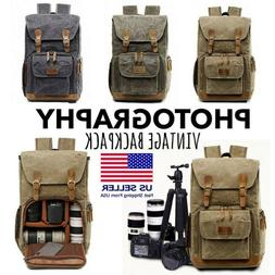 Waterproof Premium Vintage Camera Photography Backpack Lapto