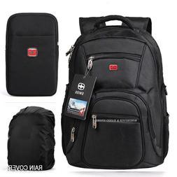 "Waterproof Swiss Travel Backpack Men 15""Laptop multifunction"