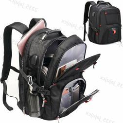 Waterproof Travel Bag Laptop Backpack Computer Notebook USB