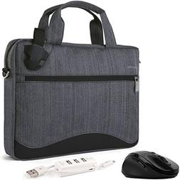 VanGoddy Wave Slim Charcoal Anti Theft Messenger Bag w/Mouse