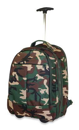 Ever Moda Camo Wheeled Laptop Backpack