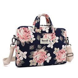 canvaslife White Rose Waterproof Patten Canvas Laptop Should