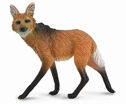 CollectA Wildlife Maned Wolf Toy Figure - Authentic Hand Pai