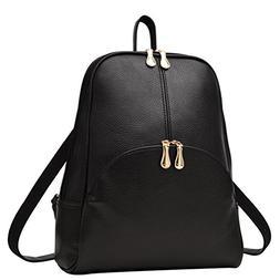 Plovex Women Backpack Leather Backpacks Softback Bags Brand