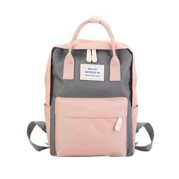 Women Canvas <font><b>Backpacks</b></font> Candy Color Water