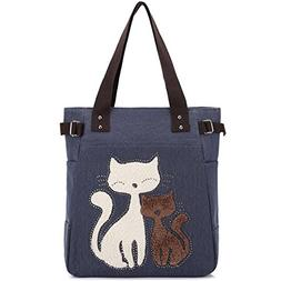 KAUKKO Women's Fashion Canvas Handbag Cute Shoulder Bag Tote