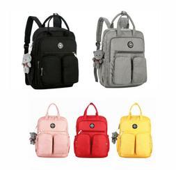 women girl student laptop backpack travel business