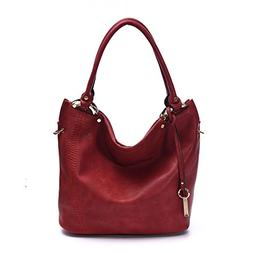 Women Handbags Hobo Shoulder Bags Tote PU Leather Fashion La