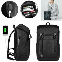 Anti-theft Men / Women Laptop Notebook Backpack USB Charging