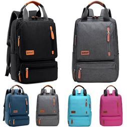 women men canvas travel backpack rucksack laptop