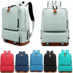 "Women's Canvas Backpack School Travel Rucksack 14"" Laptop Sa"