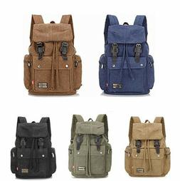 Women's Men's Laptop Canvas Synthetic Leather Backpack Rucks