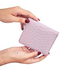 Paymenow Women Serpentine Candy Color Clutch Short Wallet Ca