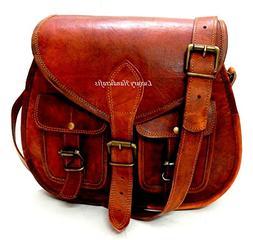 Luxury Handicrafts Women Vintage Style Genuine Brown Leather