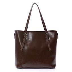 Artmis Women's Vintage Genuine Leather Tote Shoulder Bag Han