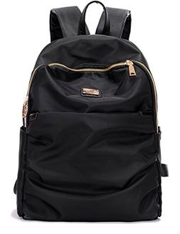 Luckysmile Womens Casual Nylon Backpack Girls School Bag Tra