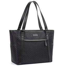 Womens Laptop Bag, BRINCH Stylish Nylon Zip Red Dot Laptop T
