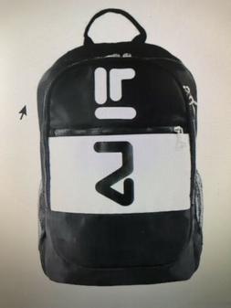 FILA WYATT Retro Backpack Laptop Tablet Bottle Holder Black